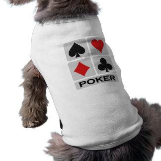 Poker pet clothing