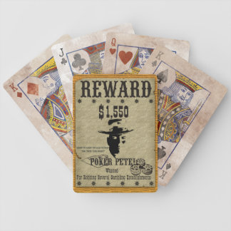 Poker Pete Reward Poster Bicycle Playing Cards