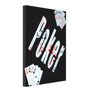 Poker Picture Card Logo, Canvas Print