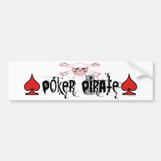 Poker Pirate bumper sticker