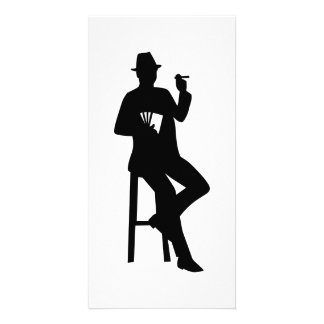 Poker player personalized photo card