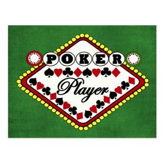 Poker player postcard