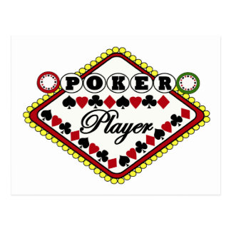Poker player post cards