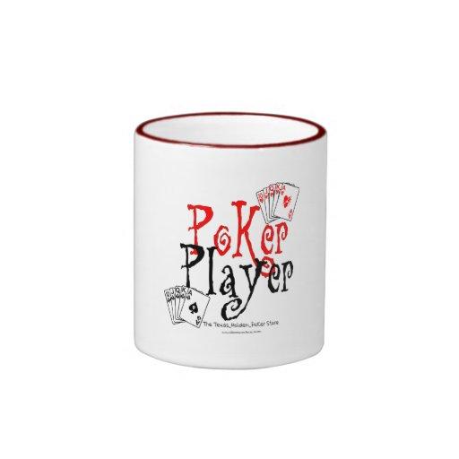 poker player ringer mug