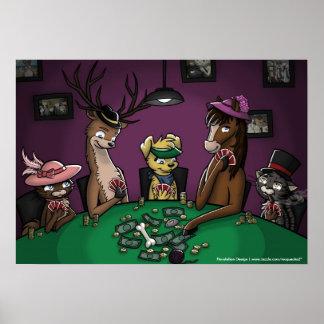 Poker Playing Animals Poster