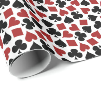 Poker Playing Card Suit Pattern Wrapping Paper