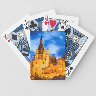 Poker playing cards Peles castle Sinaia