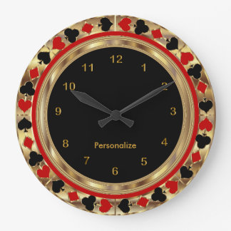Poker Playing Cards Wallclocks