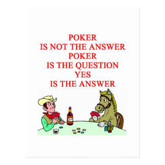 POKER POST CARDS
