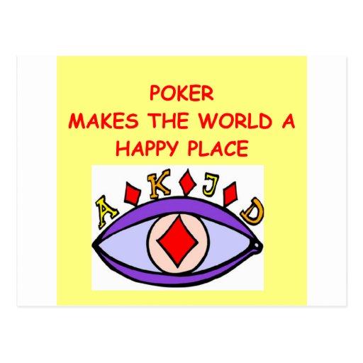 poker postcards