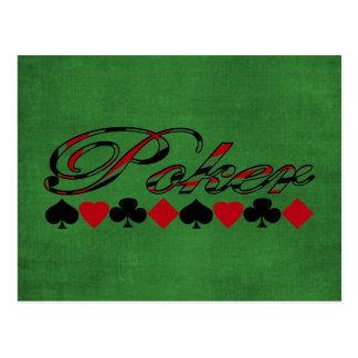 Poker Postcard