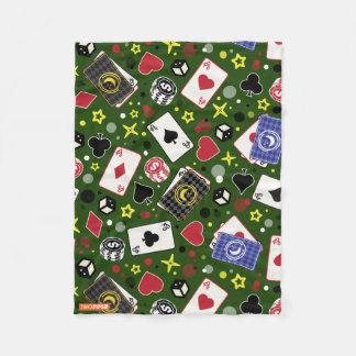 Poker Print Fleece Blanket