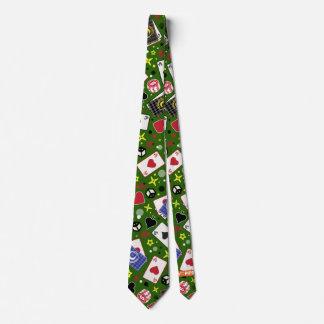 Poker Print Tie