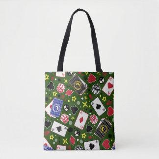 Poker Print Tote Bag