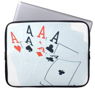 Poker,_Quad_Aces_15_Inch_Laptop_Sleeve Laptop Sleeve