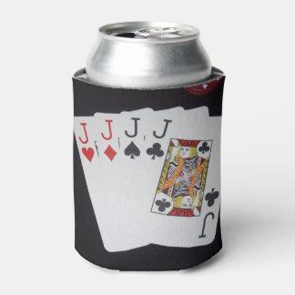 Poker,_Quad_Jacks,_Can_Stubby_Holder.