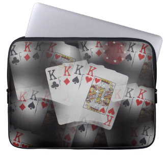 Poker,_Quad_Kings,_Cards,_13_Inch_Laptop_Sleeve. Computer Sleeve