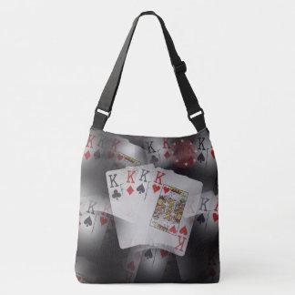 Poker,_Quad_Kings_Full_Print_Med_Cross_Body_Bag. Crossbody Bag