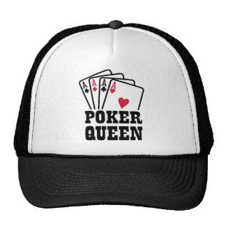 Poker queen mesh hats