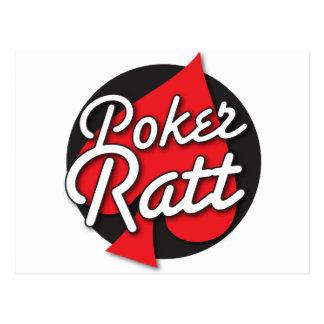 Poker Ratt rockabilly card design Post Cards