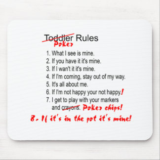 Poker Rules toddler rules Mouse Pad