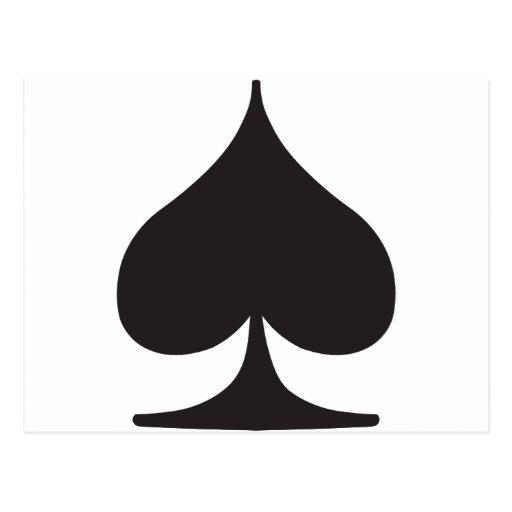 Poker Spade Suit Gambling Post Cards