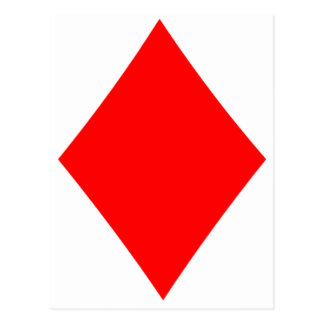 Poker Suite Diamond Post Cards
