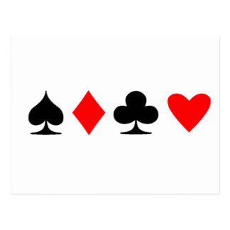 Poker Suite Postcard