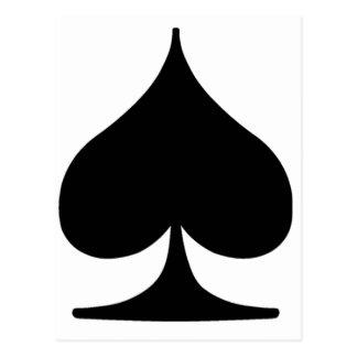 Poker Suite Spade Postcard