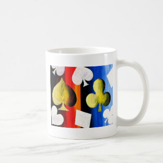 Poker Suits designer coffee mug