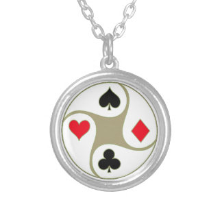 Poker Suits Personalized Necklace