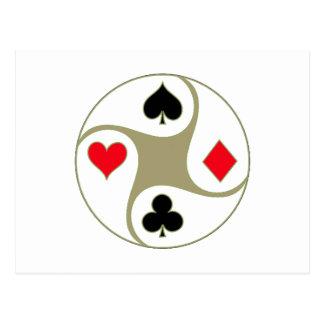 Poker Suits Postcard (landscape)