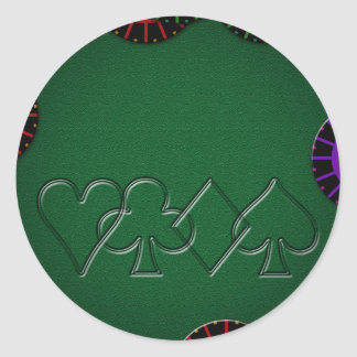 Poker Table Top Classic Round Sticker