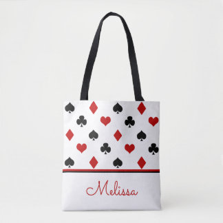 Poker Theme   Playing Card Theme   Personalised Tote Bag