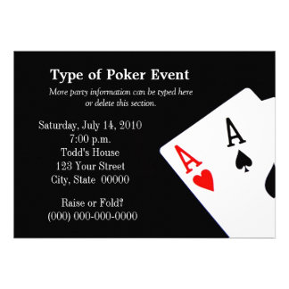 Poker Themed Invitations