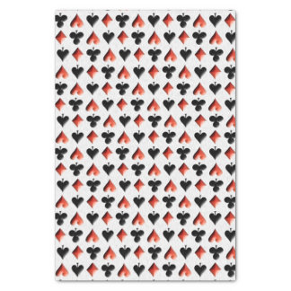 Poker Themed Playing Cards Tissue Paper