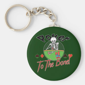 Poker To The Bone! Basic Round Button Key Ring