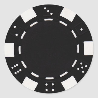 pokerchip sticker black