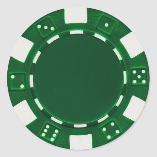pokerchip sticker green