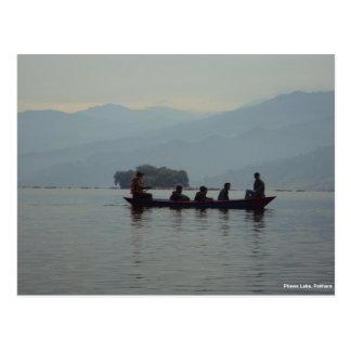 Pokhara Phewa Lake Boating Postcard