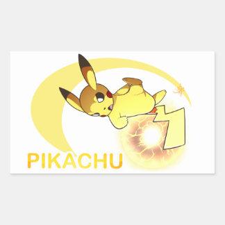Pokken Pika Rectangular Sticker
