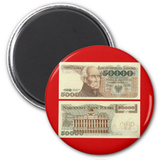 Poland Banknote 50,000 zloty Fridge Magnet