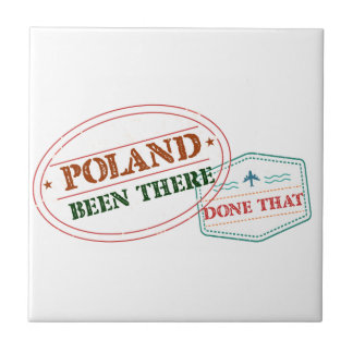 Poland Been There Done That Ceramic Tile