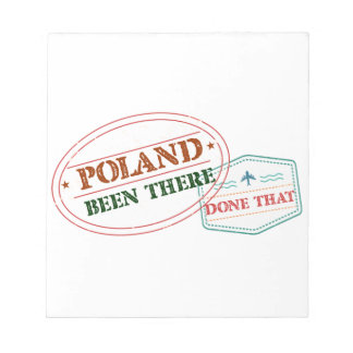 Poland Been There Done That Notepad