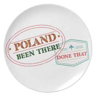 Poland Been There Done That Plate