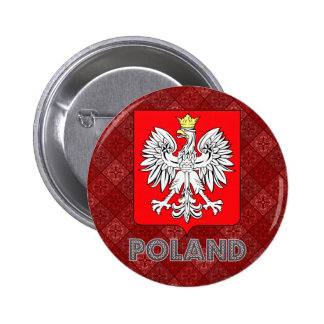 Poland Coat of Arms 6 Cm Round Badge