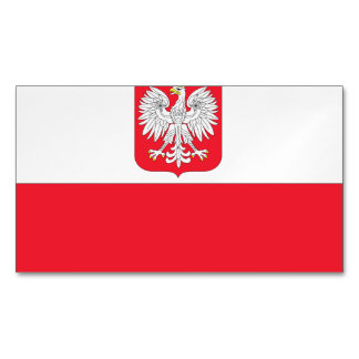 Poland Coat of Arms Flag Magnetic Business Cards