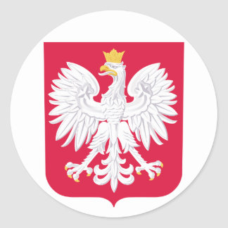 Poland Coat of Arms Round Sticker