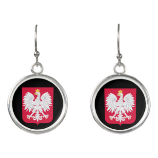 Poland Crest Drop Earrings