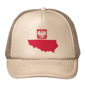 Poland crest map cap